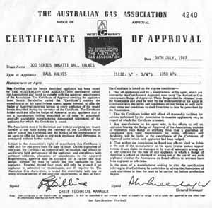 Сертификат Австралия Bugatti