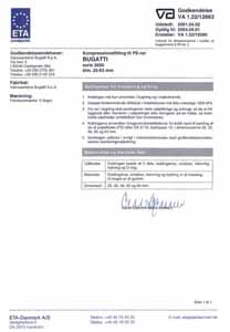 Сертификат Дания Bugatti
