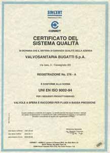 Сертификат Италия Bugatti