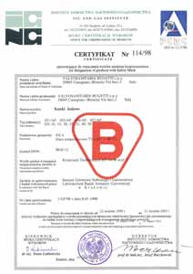 Сертификат Польша1 Bugatti