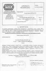 Сертификат Польша Bugatti